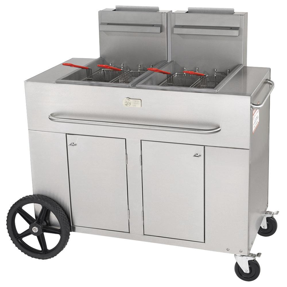 Crown Verity PF-2 70 - 80 lb. Portable Outdoor Fryer