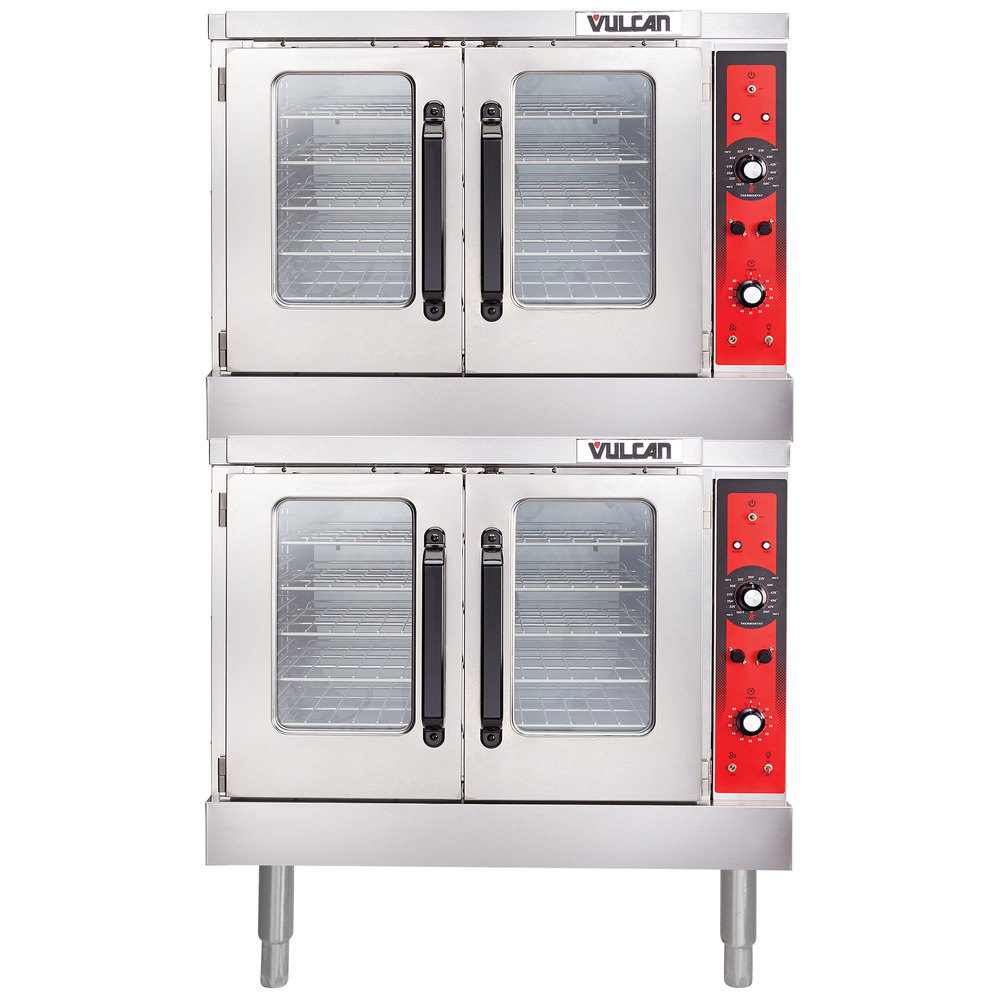 vulcan vc33ed 480 3 double deck full size electric convection oven with solid state controls. Black Bedroom Furniture Sets. Home Design Ideas