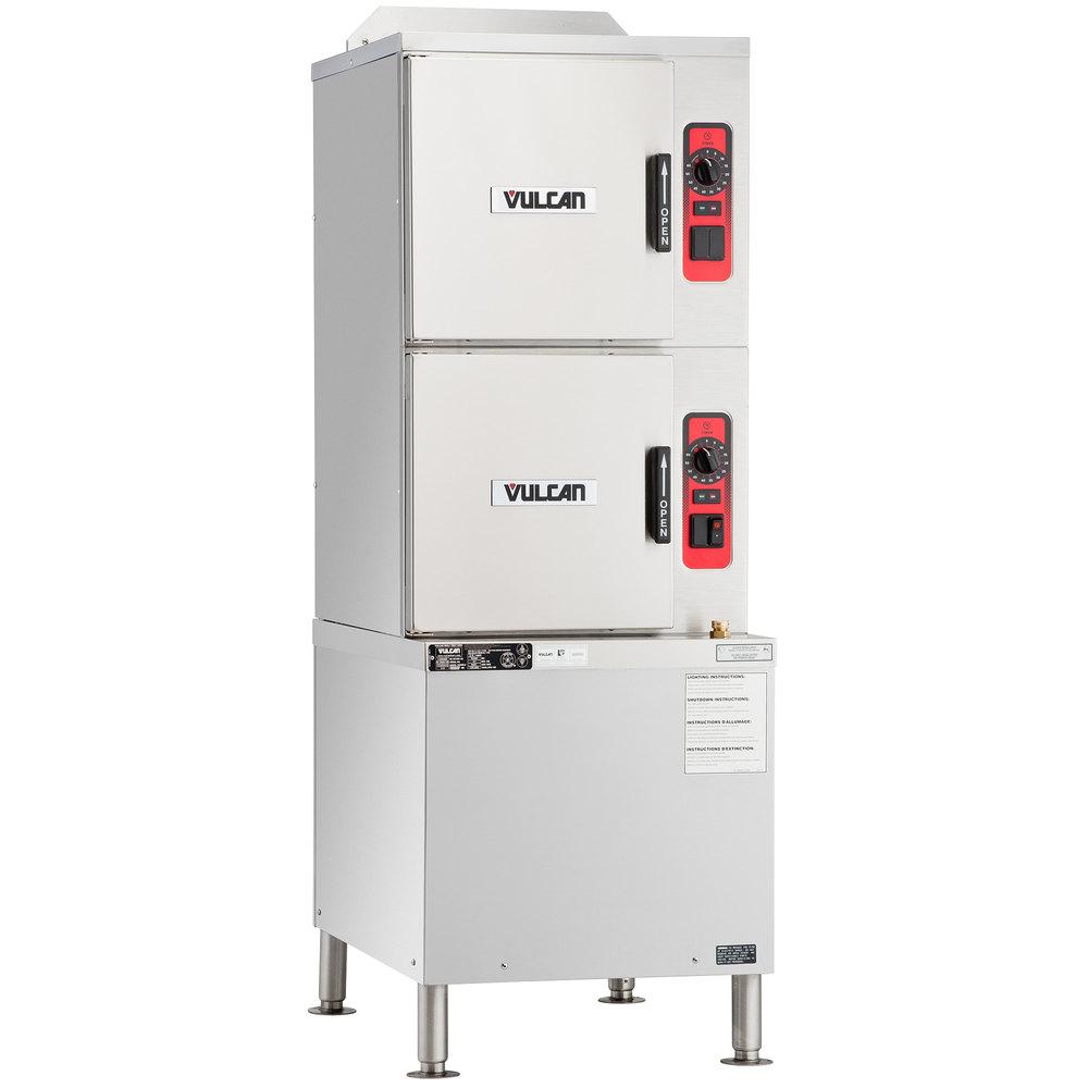 Vulcan C24GA10-BSC-NAT 10 Pan Natural Gas Floor Steamer with ...