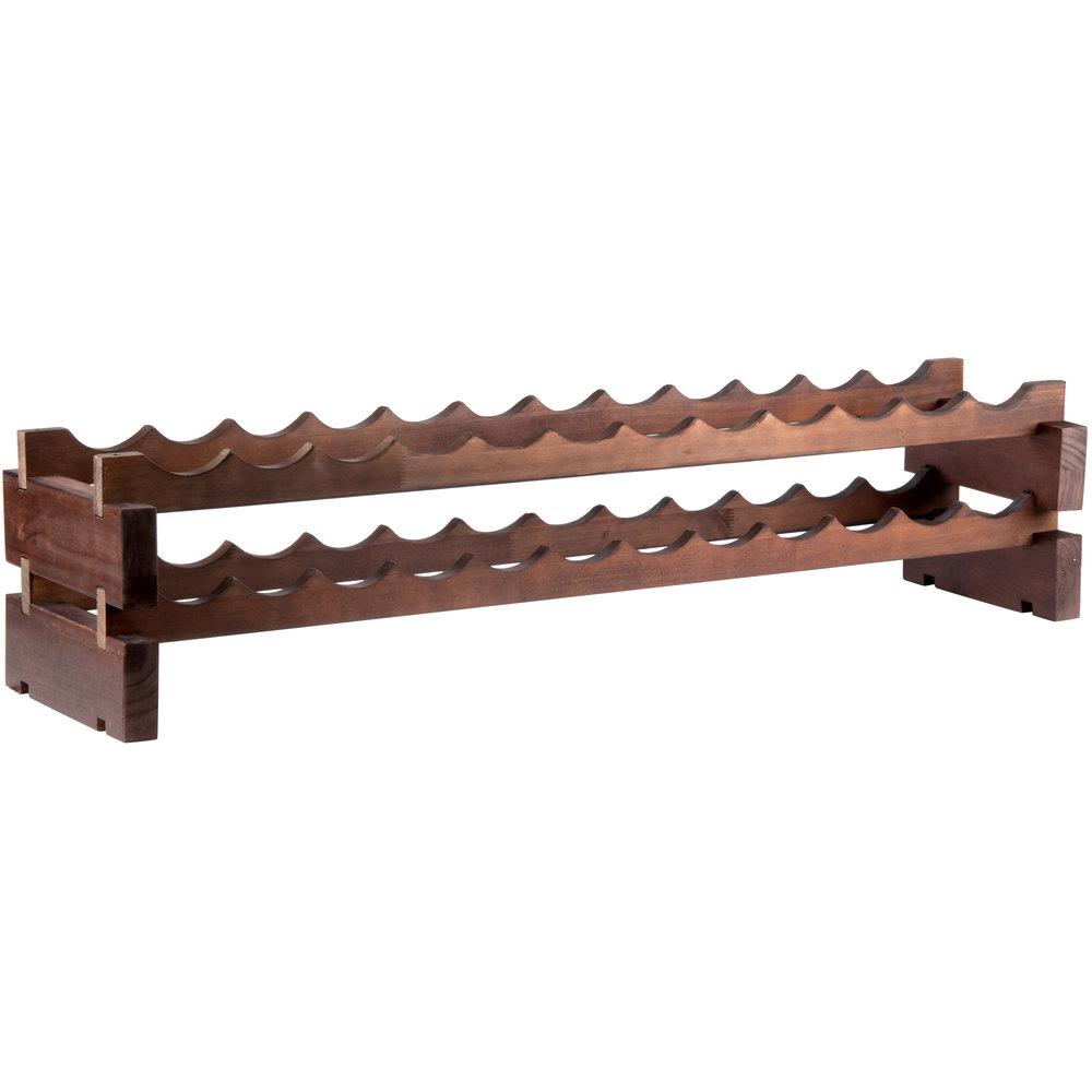 48 Quot X 11 5 8 Quot 2 Shelf Stackable Wooden Wine Rack