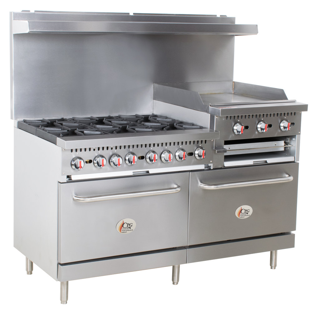 Cooking Performance Group S60-GS24-N Natural Gas 6 Burner 60\