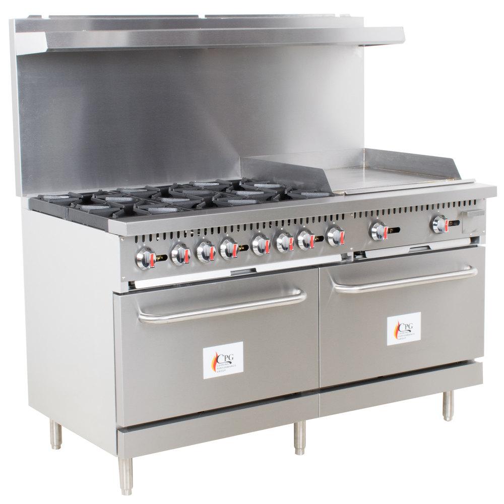 Cooking Performance Group S60-L Liquid Propane 10 Burner 60