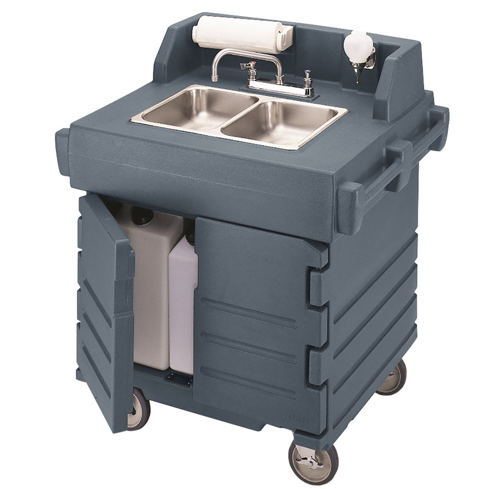 110 volts cambro ksc402191 granite gray camkiosk portable hand sink cart 110v