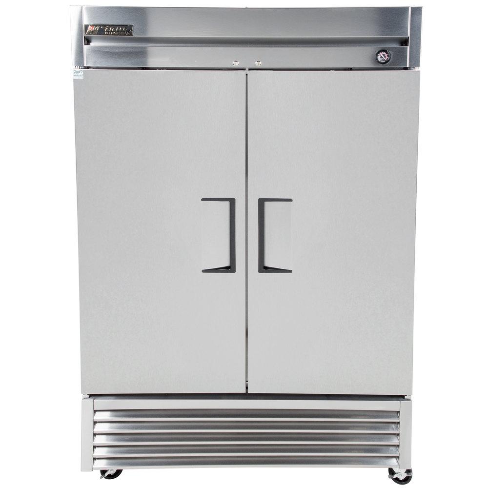 "Parts For Ge Refrigerator 2 Pcs Refrigerator Door Pin: True T-49 55"" Two Section Solid Door Reach In Refrigerator"