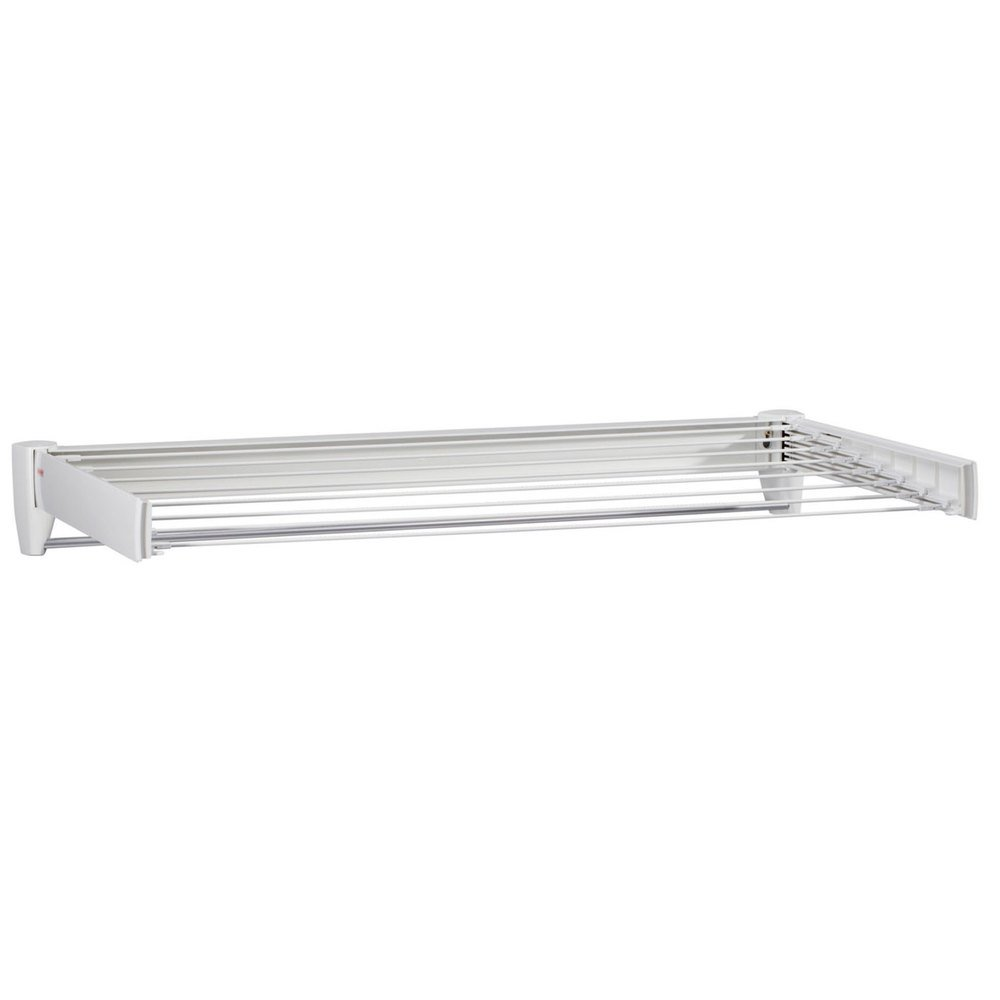 40 5 8 Quot White Retractable Wall Mount Drying Rack