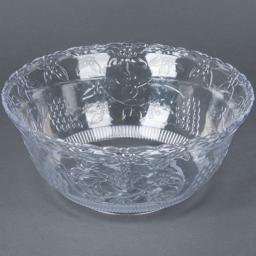 Fineline Platter Pleasers 3508 8 Qt Clear Plastic Punch Bowl
