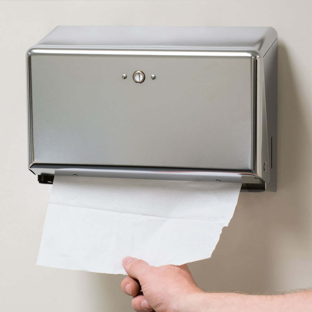 San jamar t1950xc chrome mini c fold multi fold towel dispenser for Home bathroom paper towel dispenser