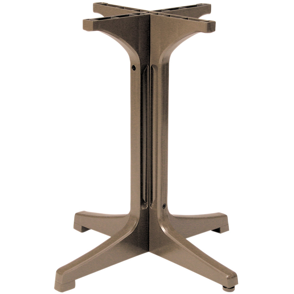 Grosfillex 55631181 1000 taupe resin pedestal outdoor - Table basse taupe ...