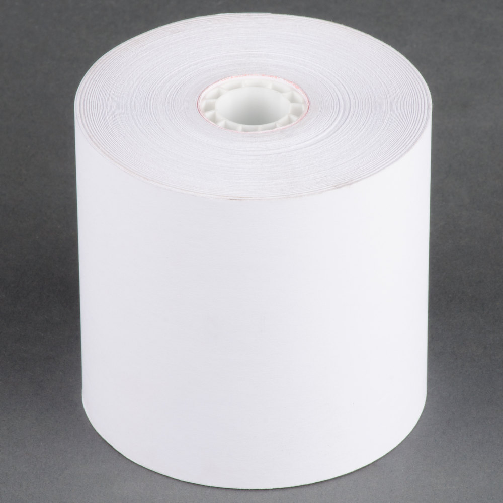 "3 1/4"" x 240' Traditional Cash Register POS Paper Roll Tape - 50/Case"