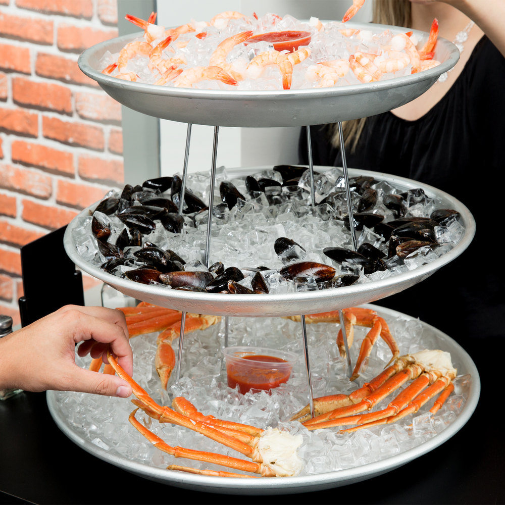 American Metalcraft 3 Tier Seafood Tower Set With Large