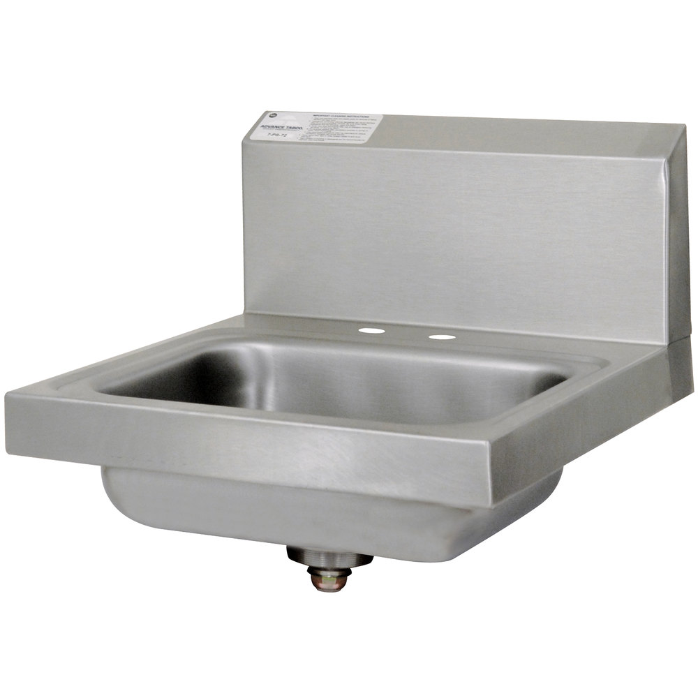 Advance Tabco 7-PS-20-NF Stainless Steel Hand Sink with Backsplash ...