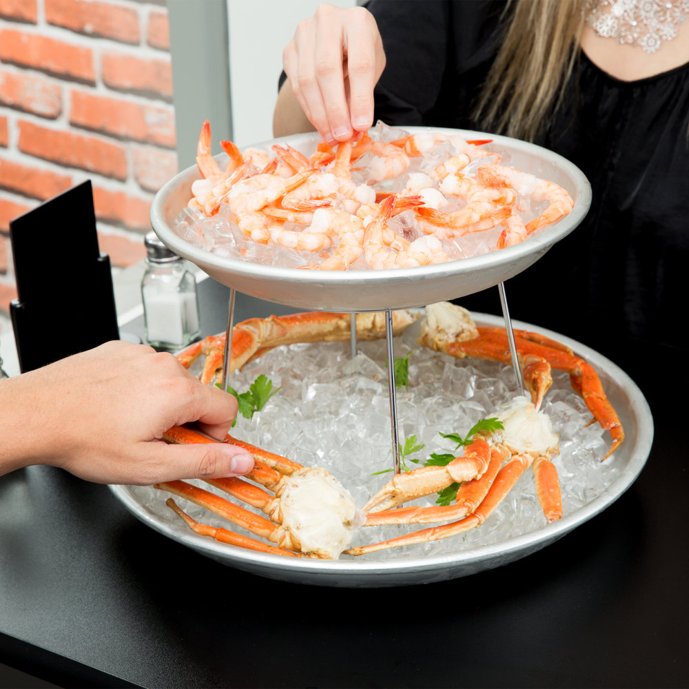American Metalcraft 2 Tier Seafood Tower Set With Small