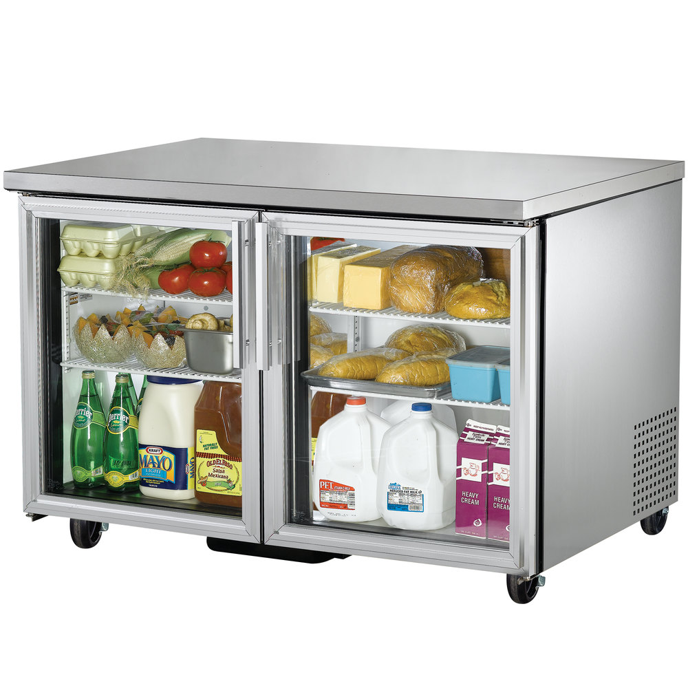 "True TUC-48G-LD 48"" Undercounter Refrigerator with Glass Doors"