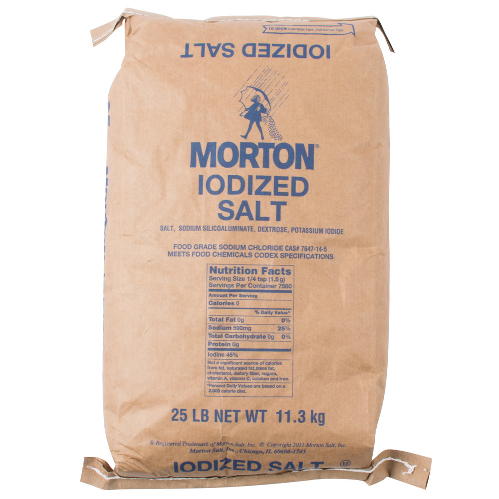 Morton 25 Lb Bulk Iodized Table Salt