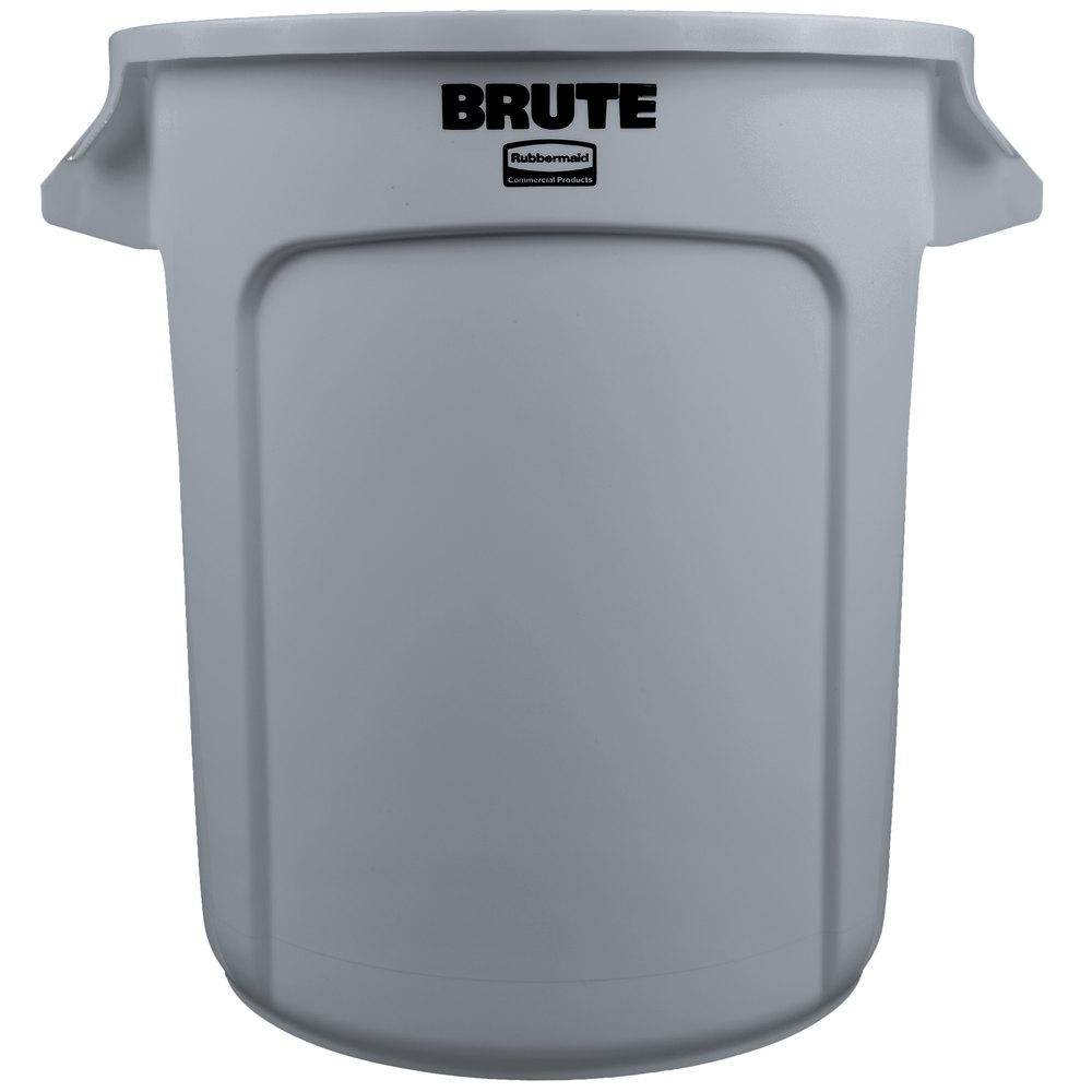 Rubbermaid FG261000GRAY BRUTE Gray 10 Gallon Trash Can