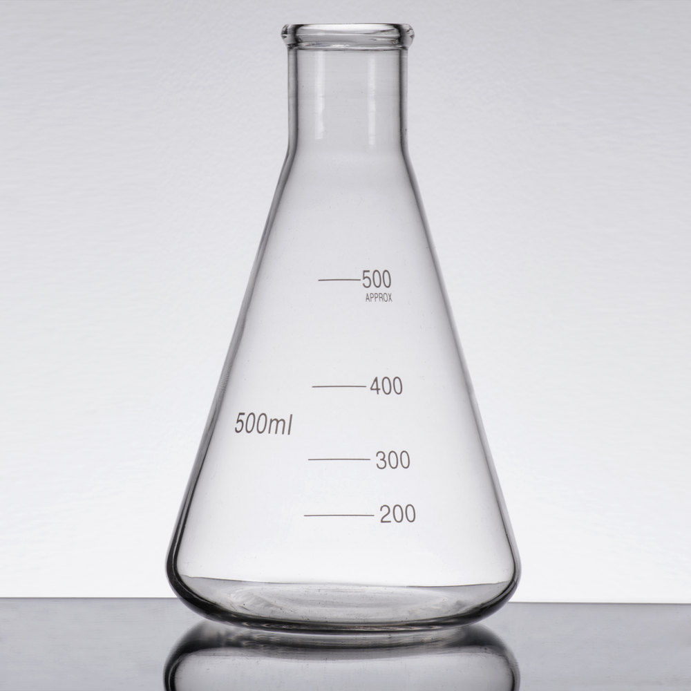 Libbey 56809 Chemistry Bar 17 oz. (500 mL) Erlenmeyer ...