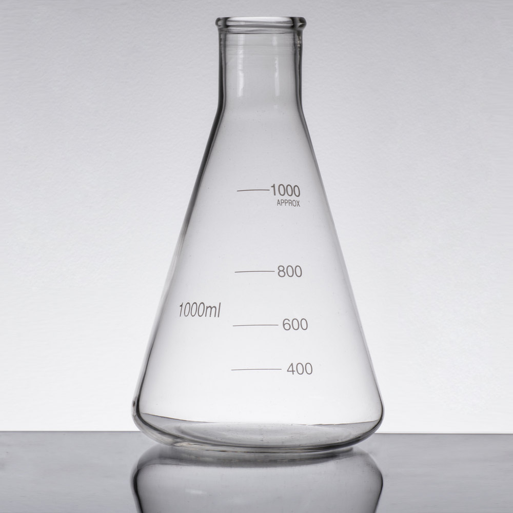 Libbey 56810 Chemistry Bar 34 oz. (1000 mL) Erlenmeyer ...