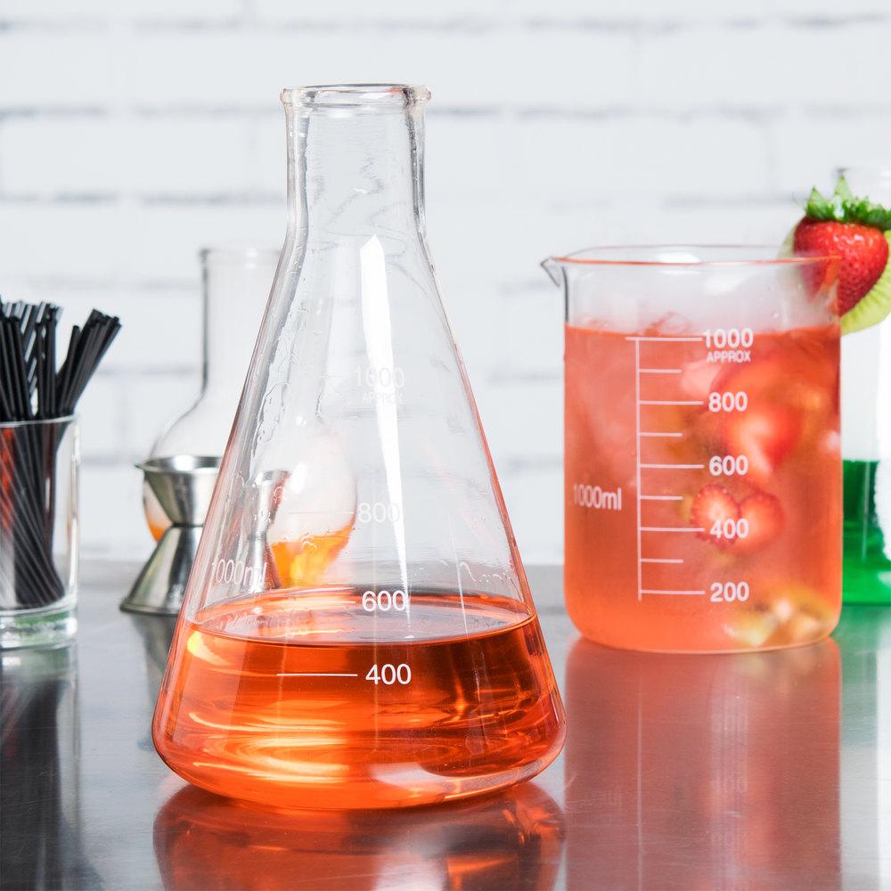 Libbey 56810 Chemistry Bar 34 oz. (1000 mL) Erlenmeyer ...