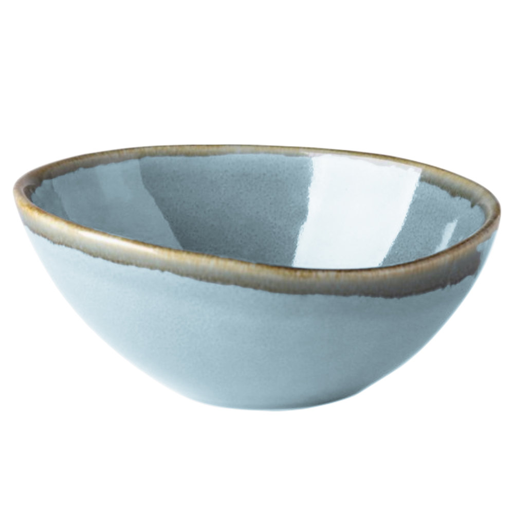 Arcoroc Fj352 Terrastone 35 Oz Blue Porcelain Bowl By Arc