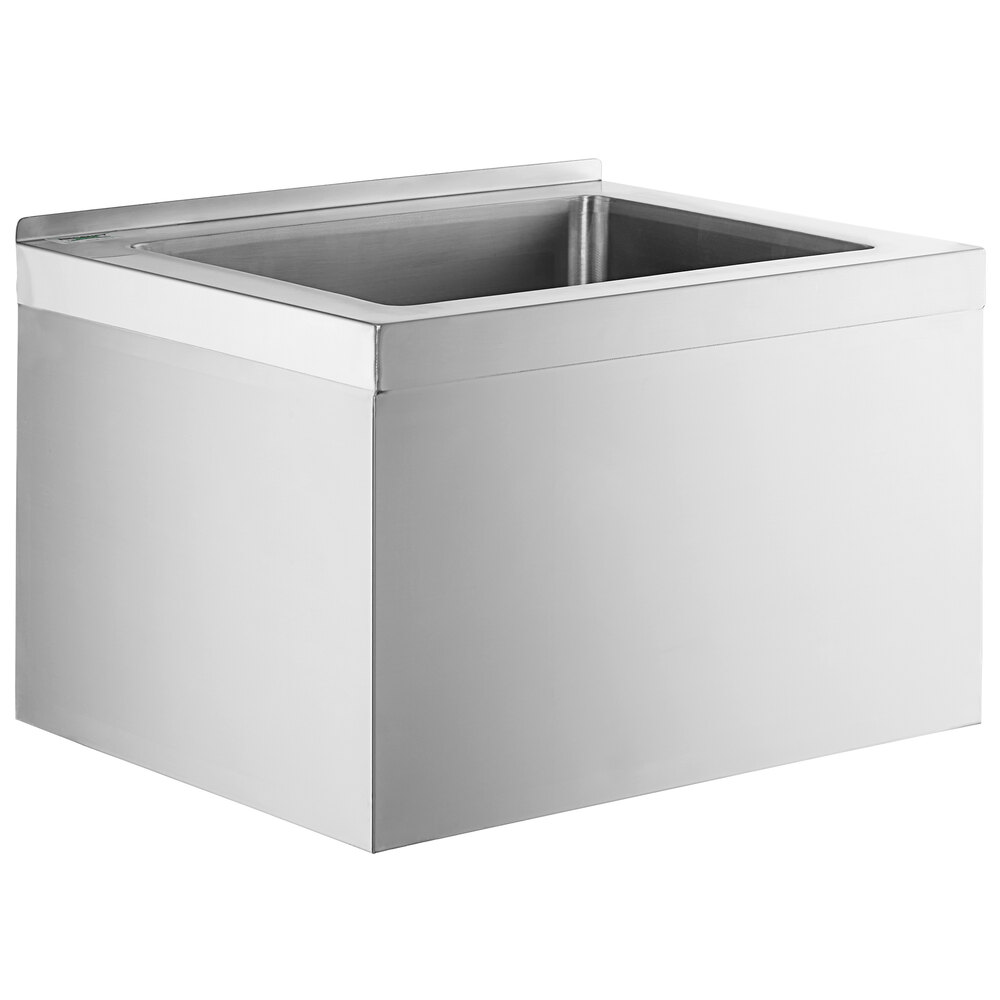 Regency 25 inch 16-Gauge Stainless Steel One Compartment Floor Mop Sink - 20 inch x 16 inch x 12 inch Bowl