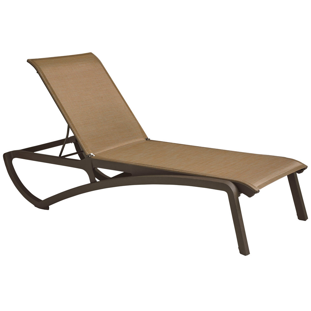 Grosfillex us634599 sunset fusion bronze chaise lounge for Chaise longue grosfillex