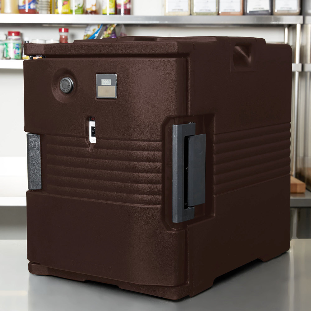 Cambro UPCH400131 Dark Brown Ultra Pan Carrier Heated Holding Pan Carrier - 110V