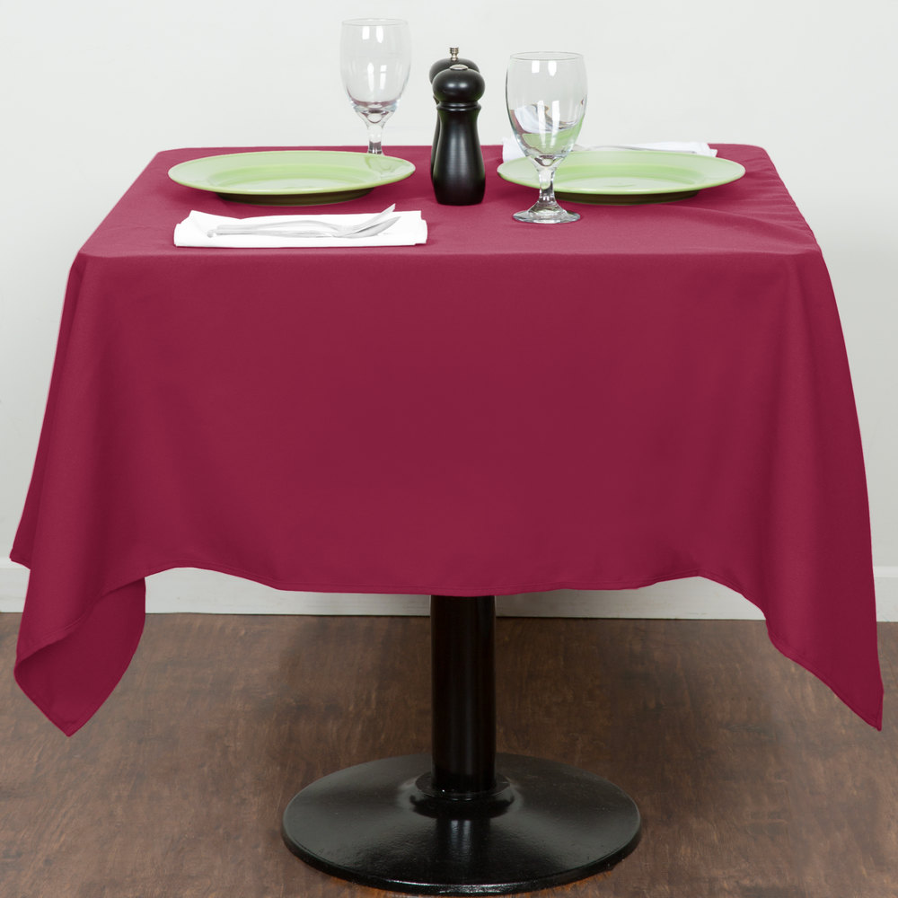 "54"" x 54"" Mauve 100% Polyester Hemmed Cloth Table Cover"