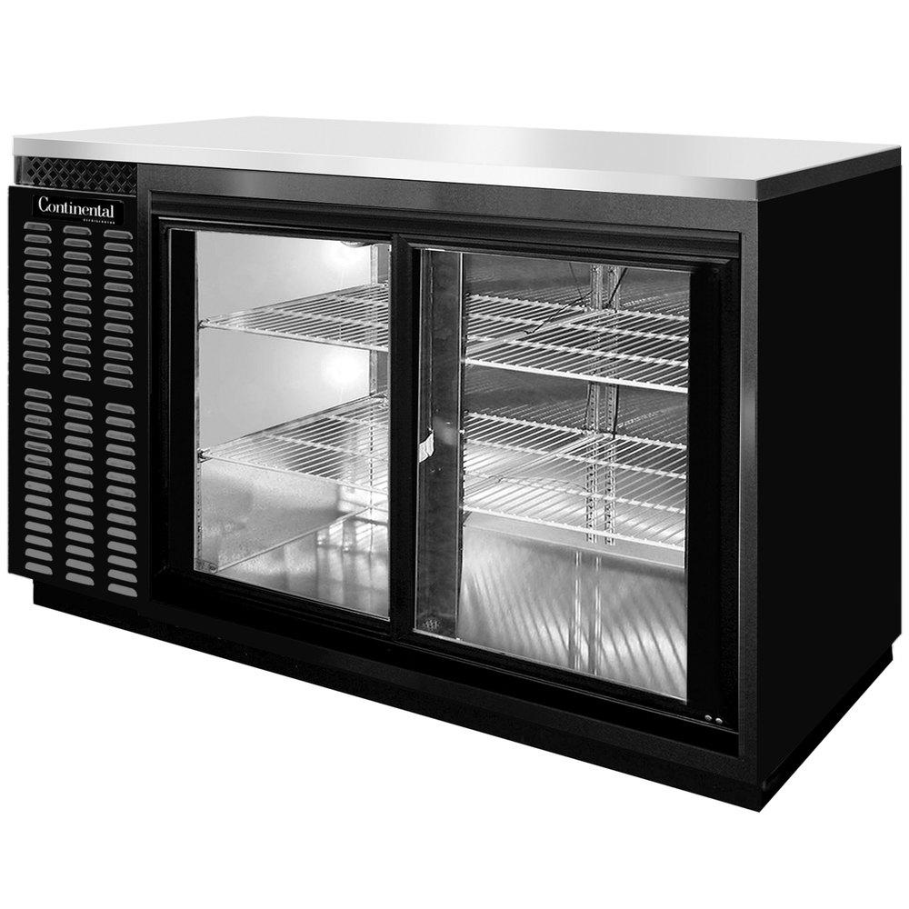 "Basement Bar Conceptual Would Need Glass Sliding Doors: Continental Refrigerator BBC69S-SGD 69"" Black Shallow"
