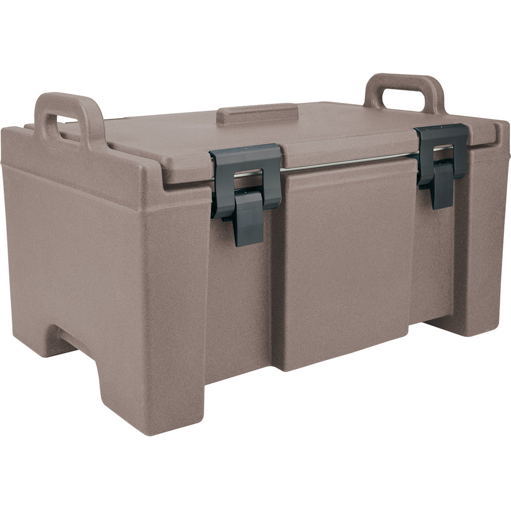 "Cambro UPC100194 Granite Sand Camcarrier Ultra Pan Carrier with Handles - Top Load for 12"" x 20"" Food Pans"