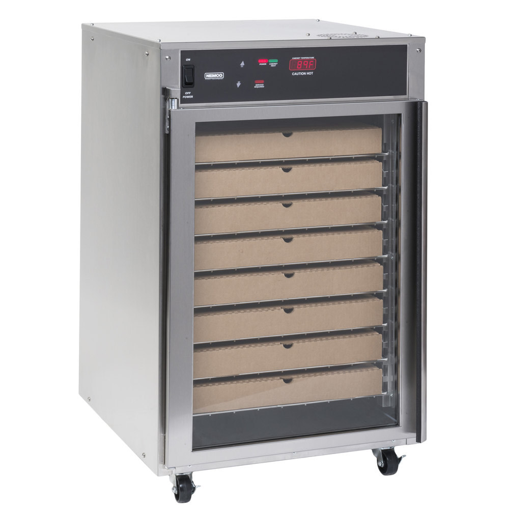Nemco 6410 8 Rack Floor Model Pizza Holding Cabinet 120v