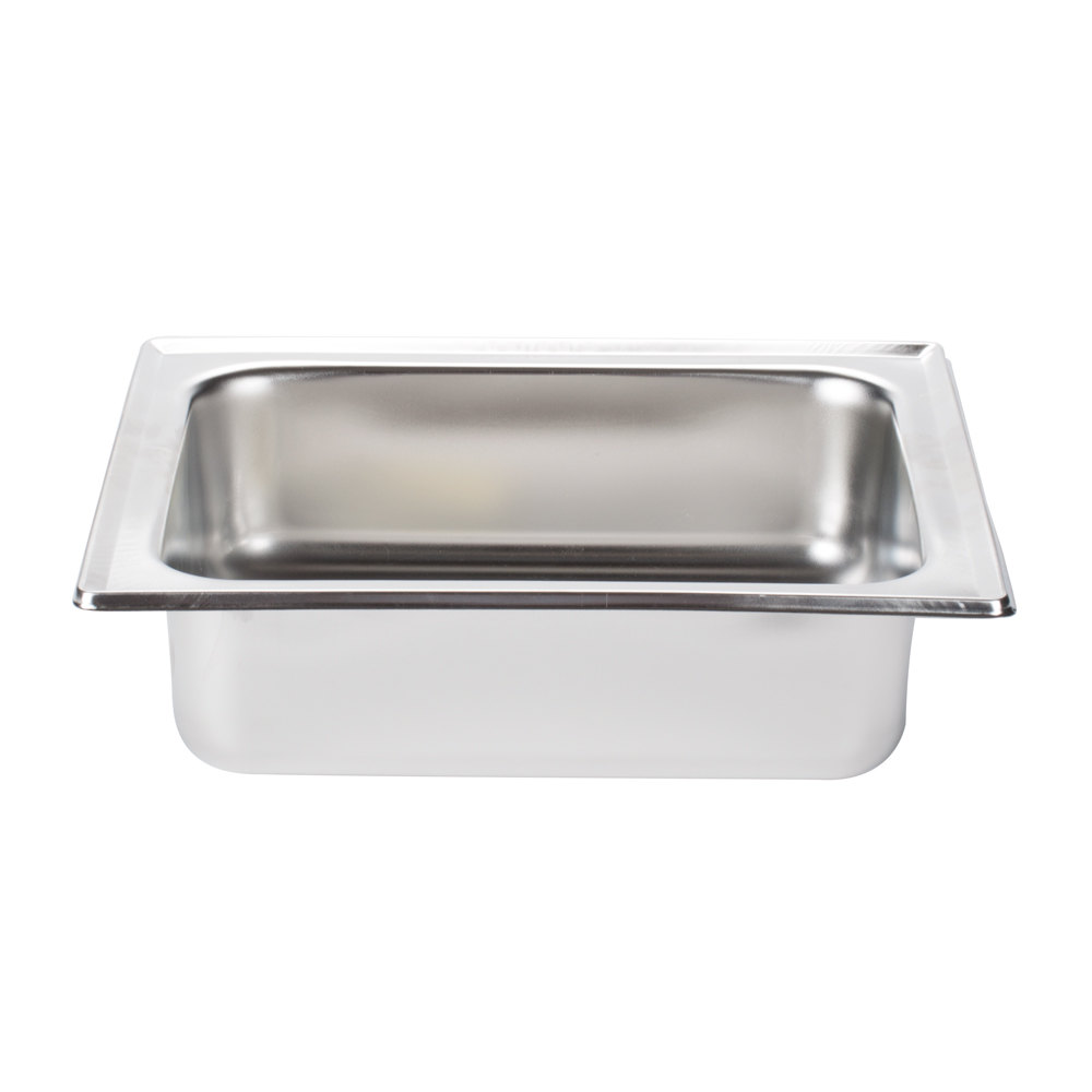 "Choice Replacement 3 1/2"" Deep Water Pan for Choice Economy 4 Qt. Half Size Chafer"
