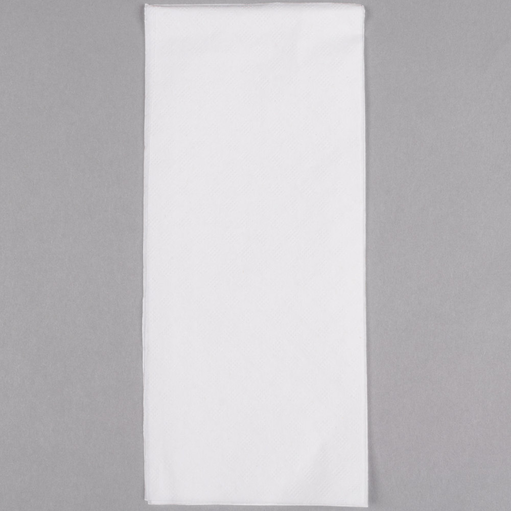 "1-Ply 15"" x 17"" Morsoft White Dinner Napkin 141 / Pack"