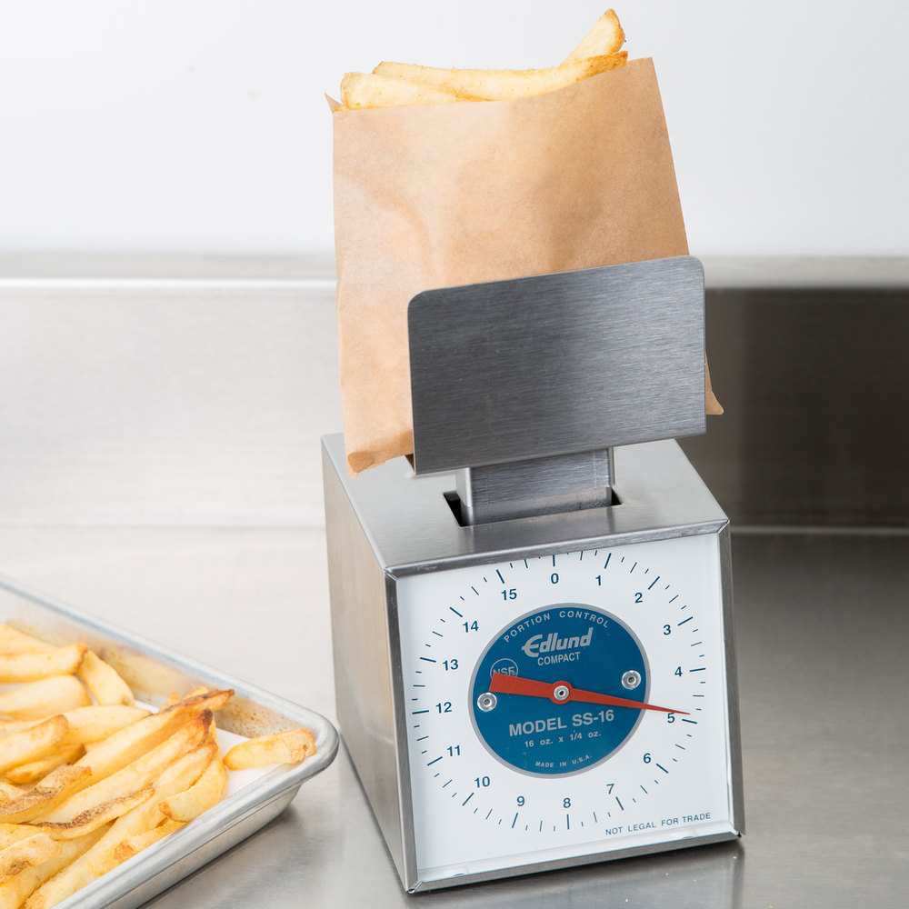Edlund SS-16 P Compact 16 oz. Mechanical Portion Scale with French Fry / Taco Platform