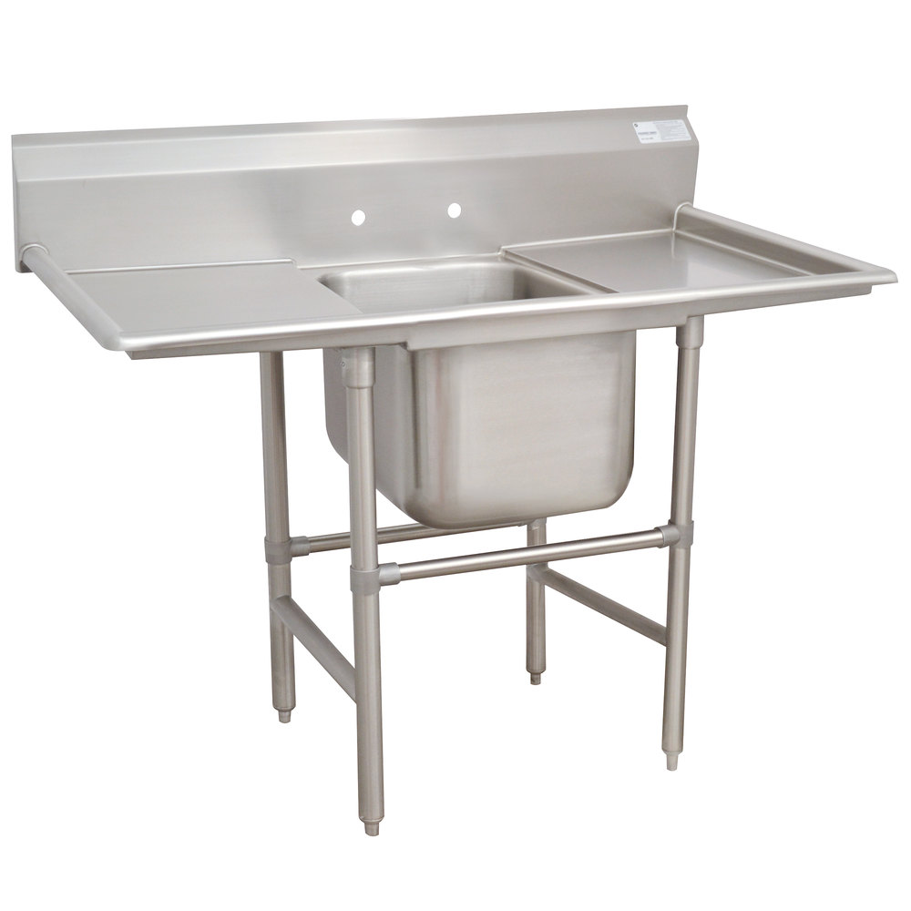 Advance Tabco 94-61-18-18RL Spec Line One Compartment Pot Sink with Two Drainboards - 56""