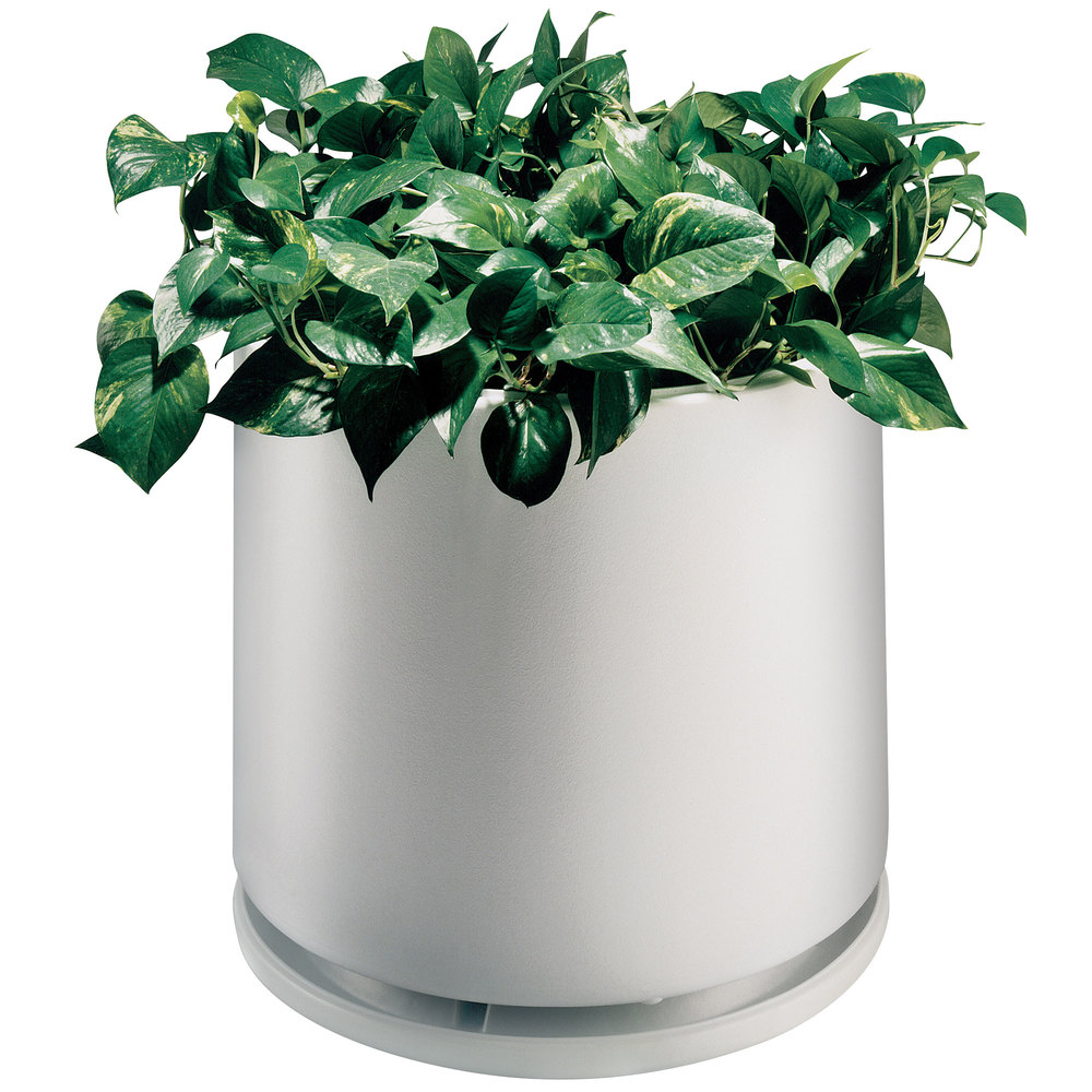 "Commercial Zone 74030699 White Planter and Dish - 22"" x 19"""