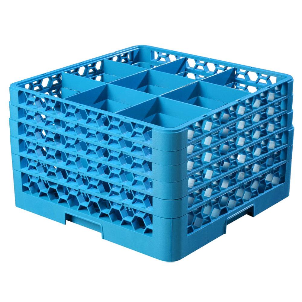 Carlisle Rg9 514 Opticlean 9 Compartment Blue Glass Rack