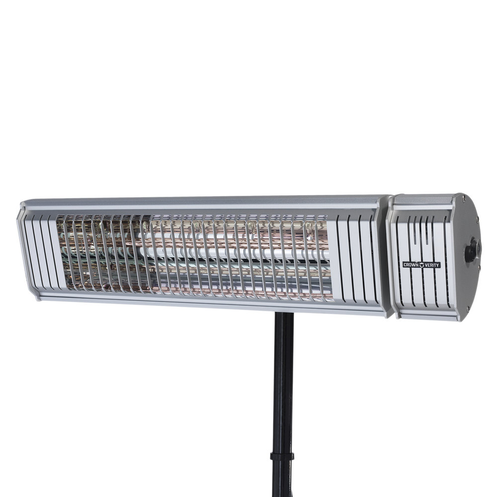 Crown Verity CV EH 1500 S Insta Heat Electric Outdoor Patio Heater With  Bluetooth Technology   120V, 1500W