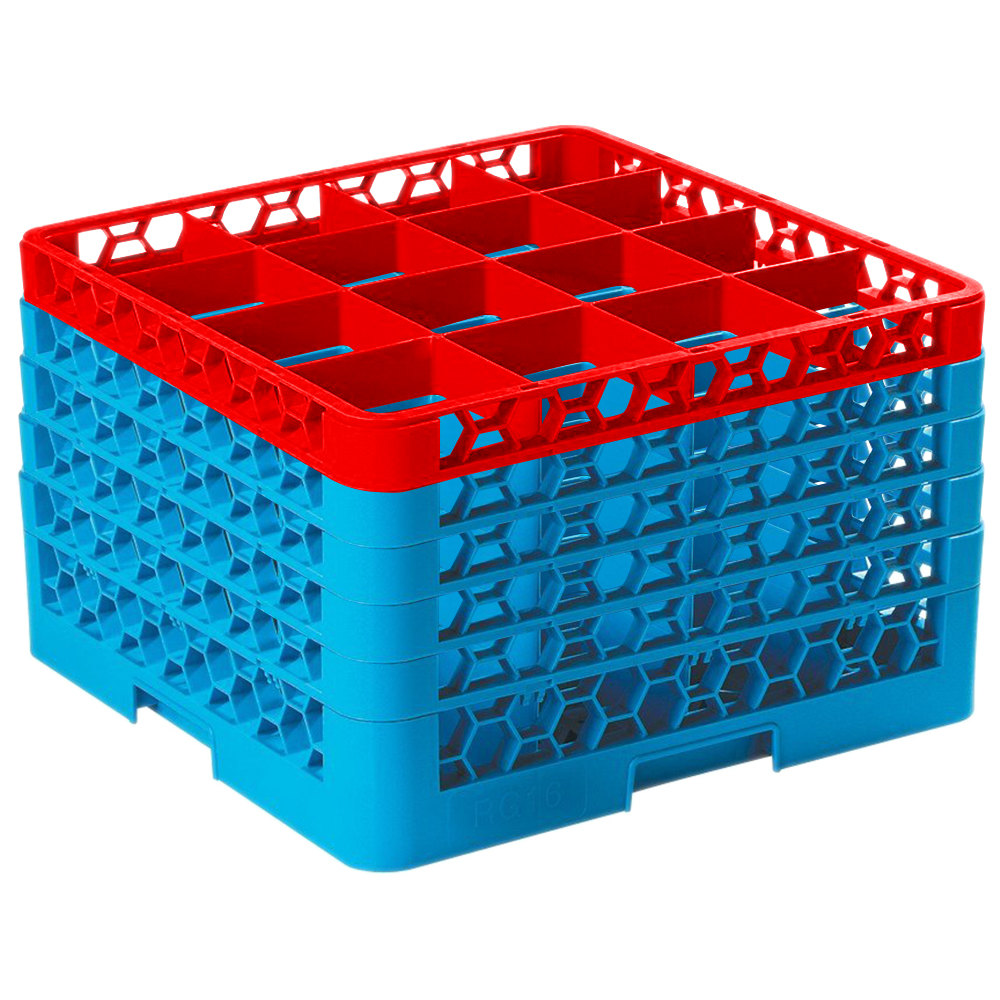 Carlisle Rg16 5c410 Opticlean 16 Compartment Red Color