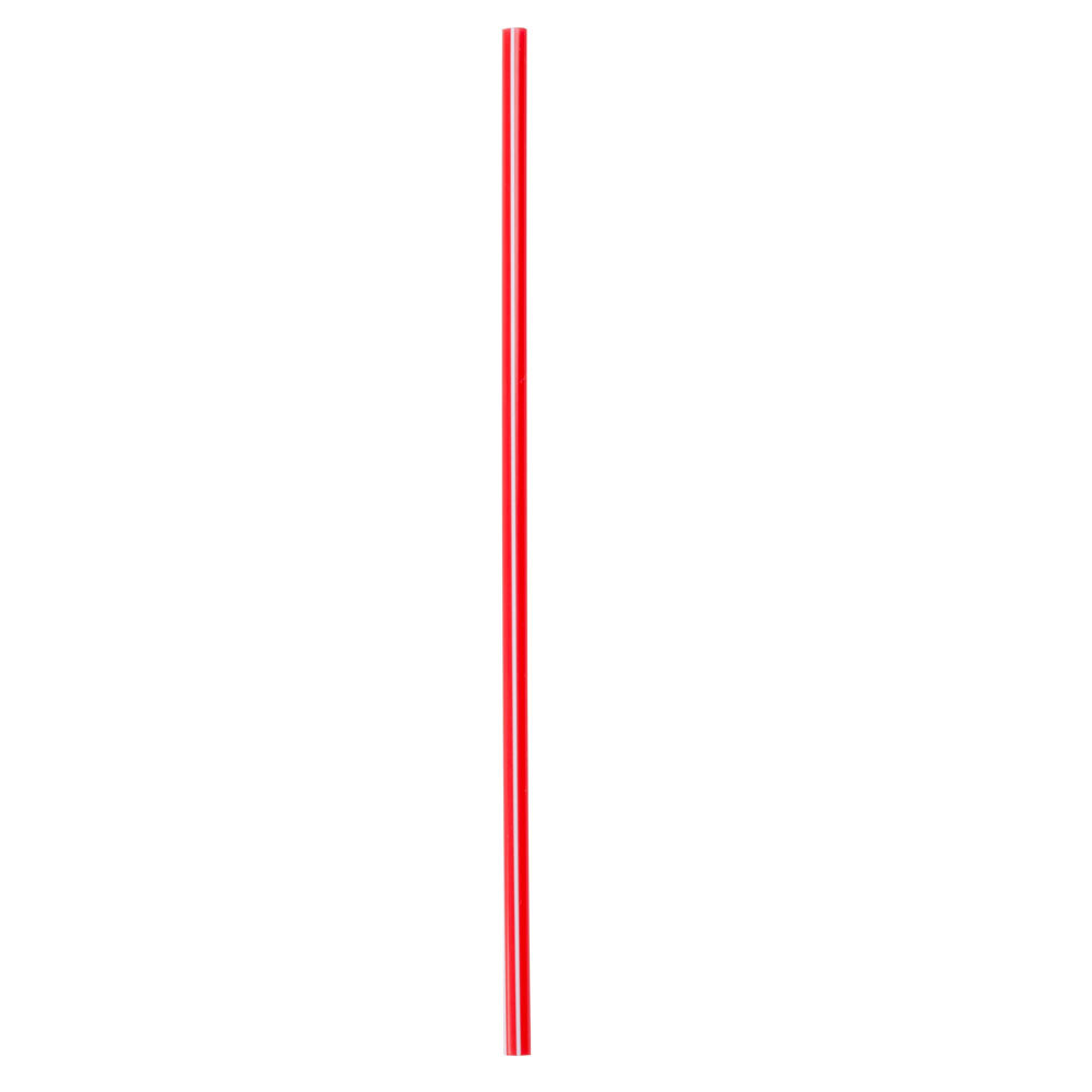 "Choice 5"" Red and White Unwrapped Coffee Stirrer - 10000/Case"