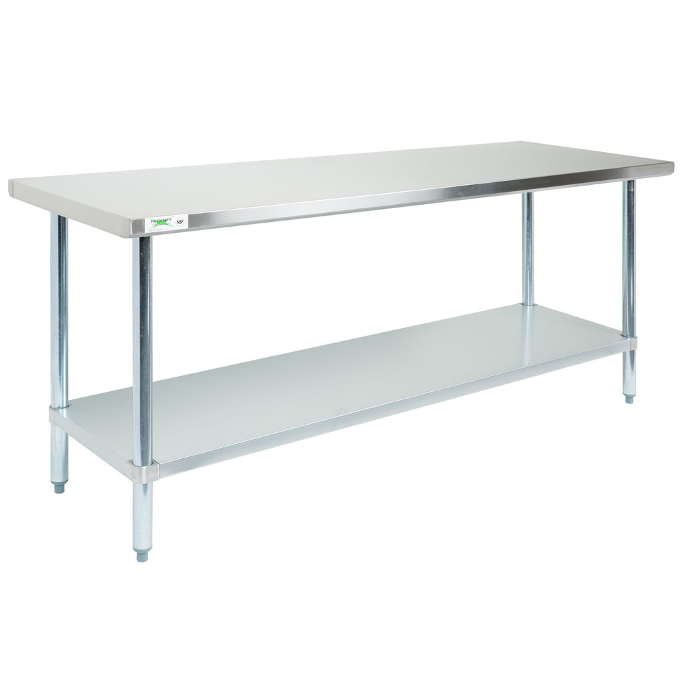 Strange Regency 30 X 72 18 Gauge 304 Stainless Steel Commercial Work Table With Galvanized Legs And Undershelf Theyellowbook Wood Chair Design Ideas Theyellowbookinfo