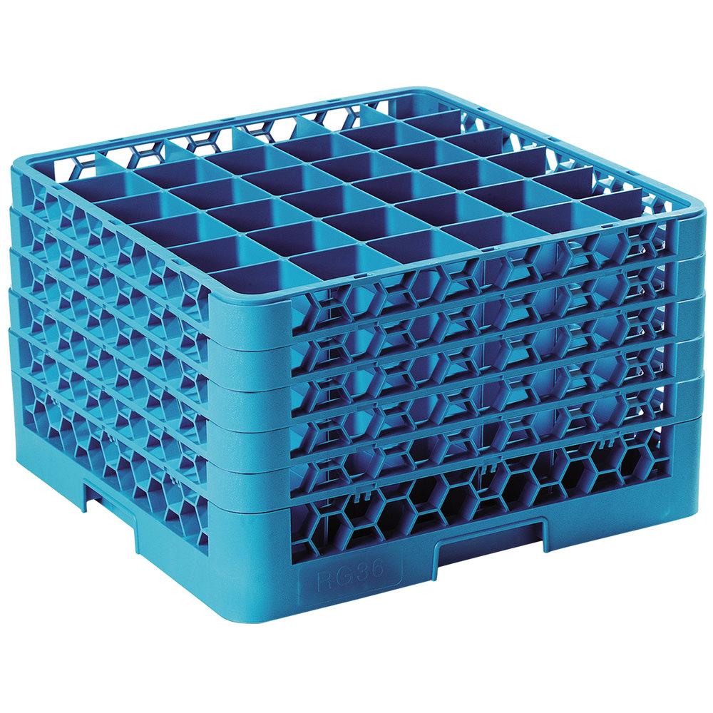 Carlisle Rg36 514 Opticlean 36 Compartment Blue Glass Rack