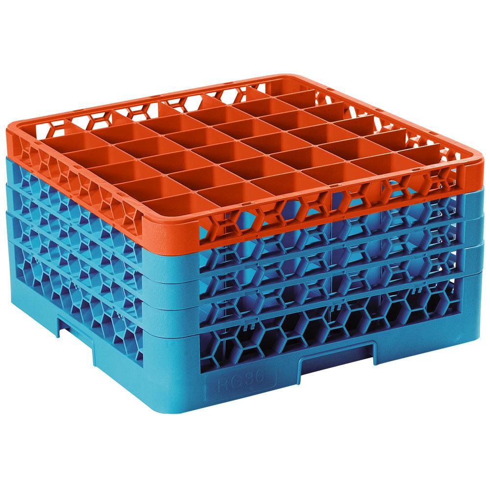 Carlisle Rg36 4c412 Opticlean 36 Compartment Orange Color