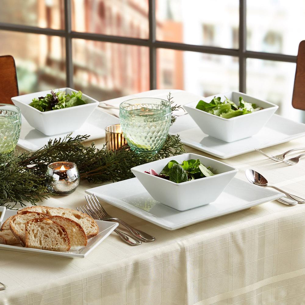 "Rectangular 12/""x7/"" Platters x 6 Restaurant Dinning Plate Tableware Catering"