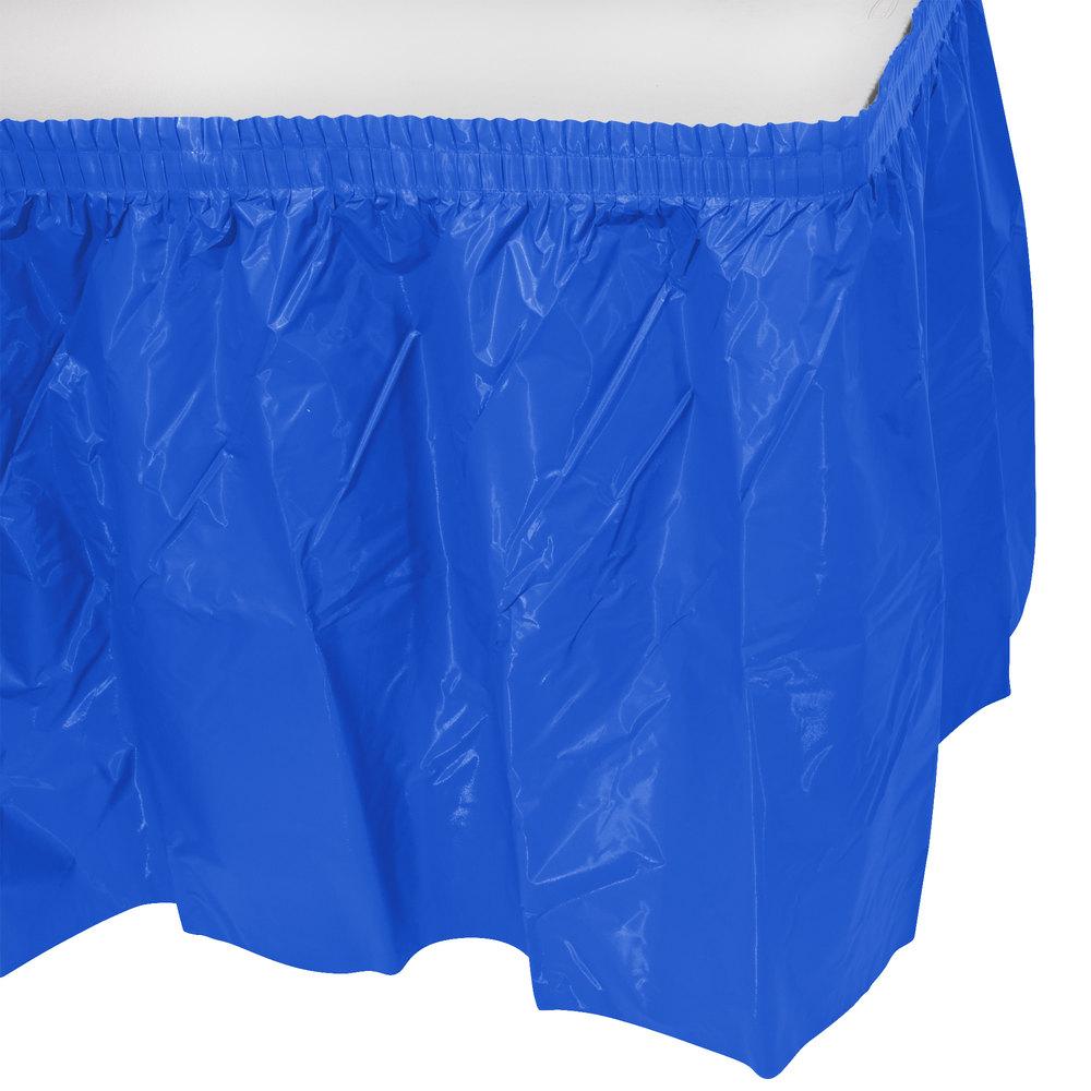 Blue Plastic Table Skirt 14 X 29 Quot