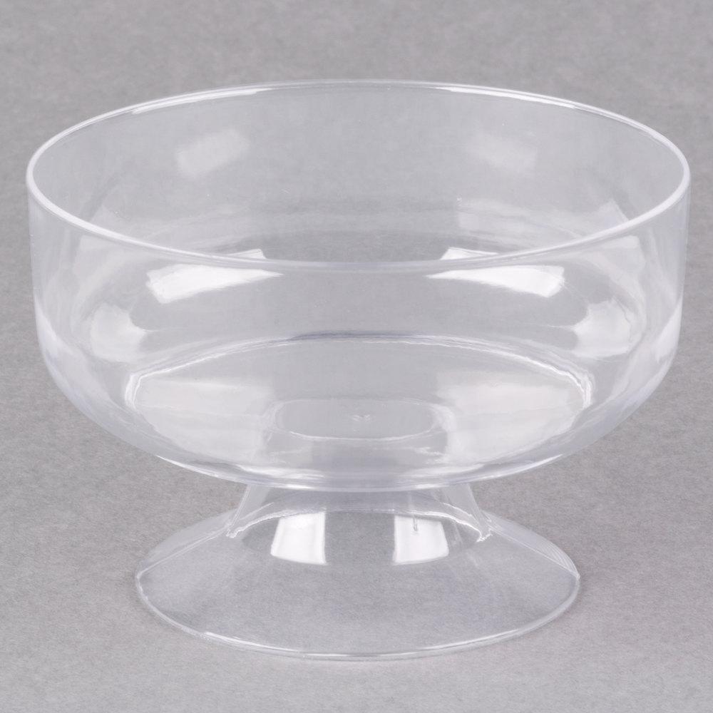 Visions 6 Oz. Clear Plastic 1-Piece Dessert Cup