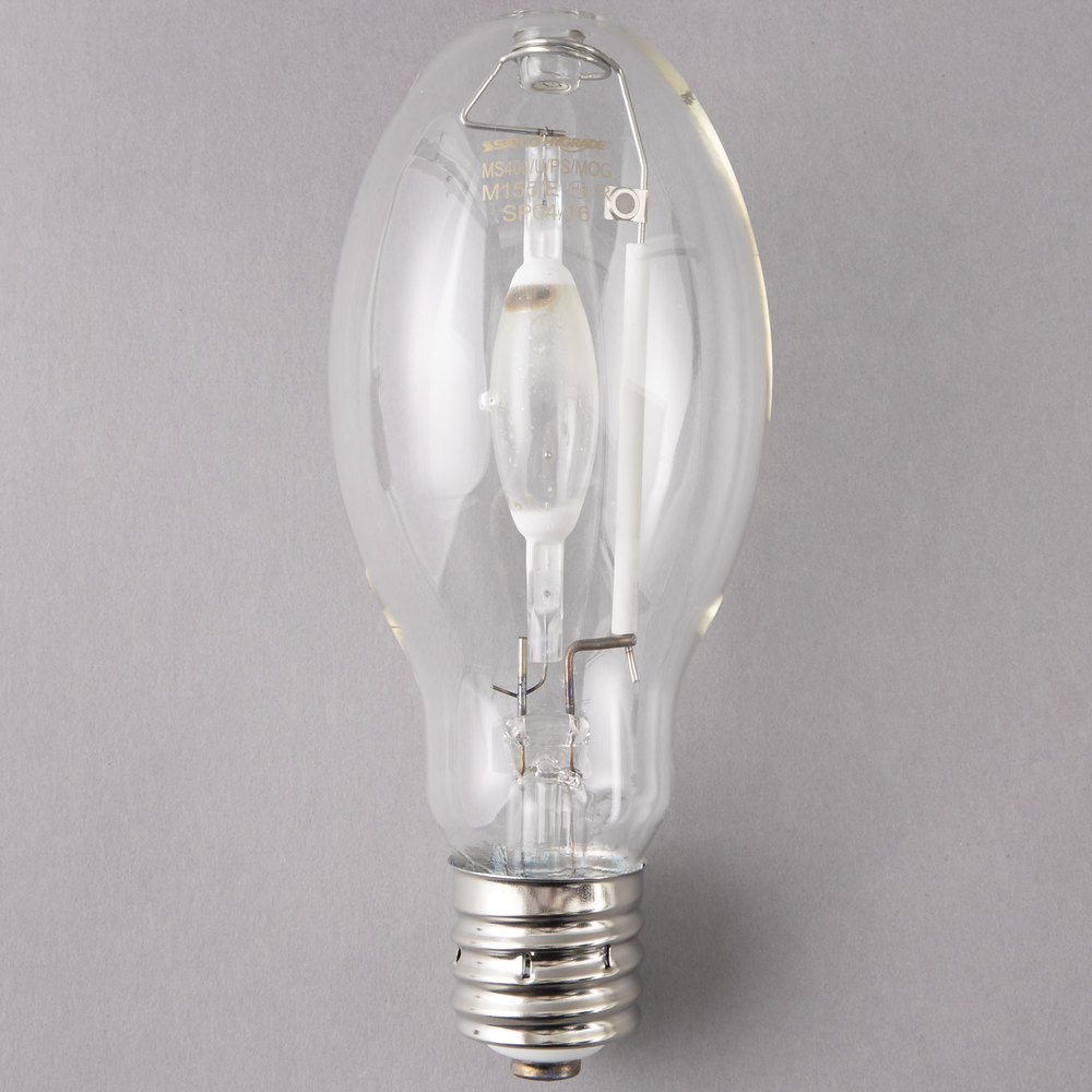 Satco S5878 400 Watt Cool White Clear Finish Metal Halide