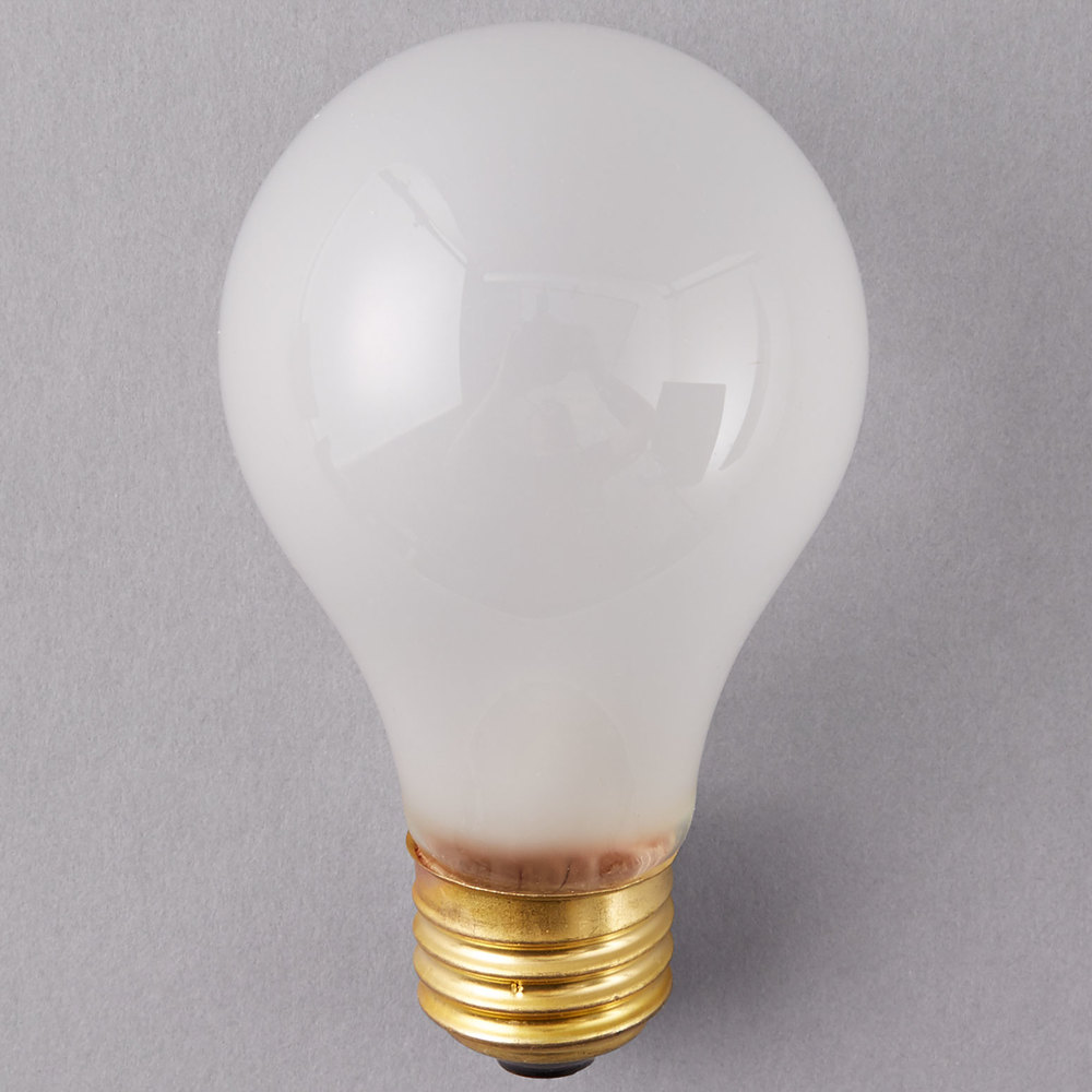 Frosted Light Bulbs >> Satco S3970 75 Watt Frosted Finish Incandescent Rough Service Light Bulb 2 Pack