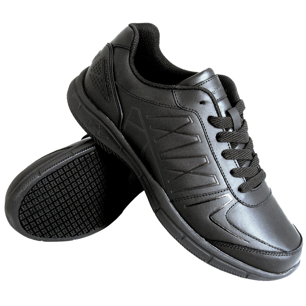 genuine grip 160 s size 9 wide width black leather