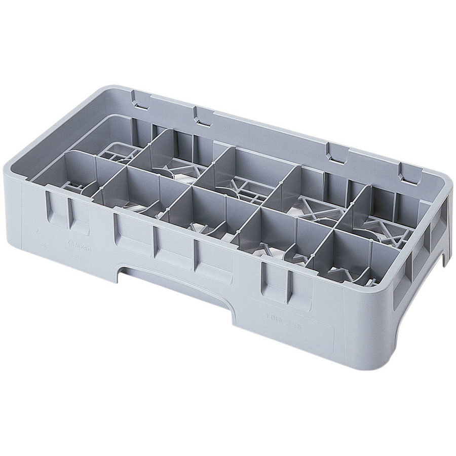 "Cambro 10HC414151 Soft Gray 10 Compartment Half Size 4 1/4"" Camrack Cup Rack"