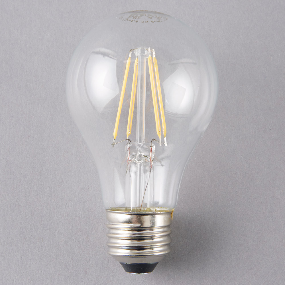 satco s9562 6 5 watt 60 watt equivalent clear warm white led light bulb 120v a19. Black Bedroom Furniture Sets. Home Design Ideas